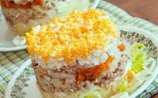 Рыбные салаты с картошкой